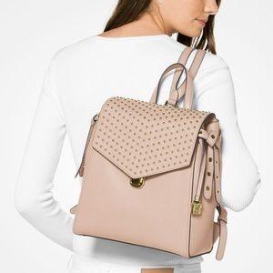 Micahel Kors bristol pink studded backpack